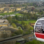 Cable car in Bath