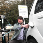 Electric Car Charging Point in Bath Car Park
