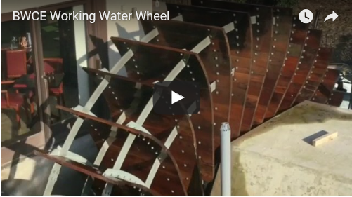 BWCE Working Waterwheel Video